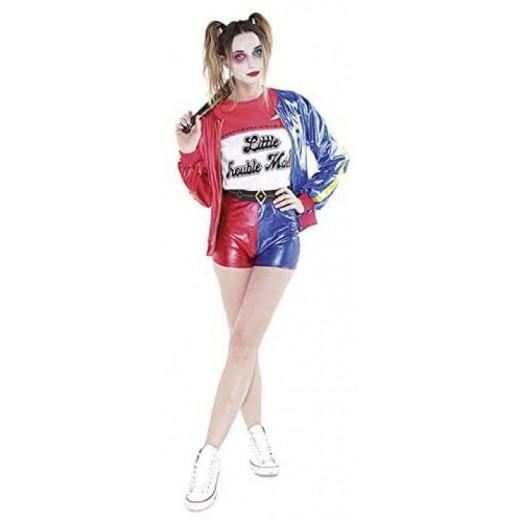 Disfraz de Harley Quinn Joker's Baby Adulto Mujer Carnaval Cosplay traje corto