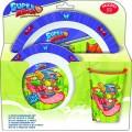 Vajilla de Super Zings vaso plato y cuenco infantil para microondas SuperZings