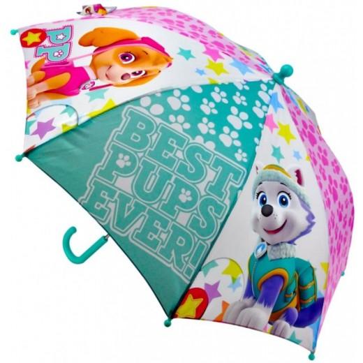 Paraguas de la patrulla canina Skye y Everest manual infantil paw patrol 57cm