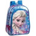 Mochila de Frozen Elsa grande Azul 37 cm de película colegio primaria