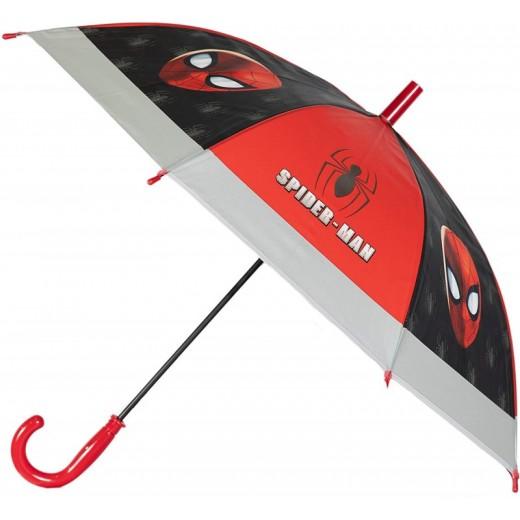 Paraguas de Spiderman automático negro y rojo infantil Spider man 43 cm