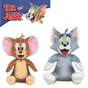 Peluches de Tom y Jerry Grandes 28 cm gato y ratón suaves originales Tom & Jerry