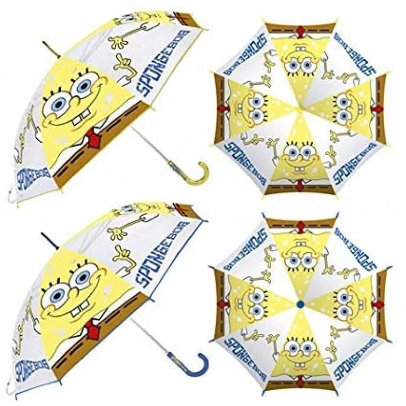 Paraguas plegable autom/ático de Bob Esponja unisex impreso manual paraguas paraguas port/átil