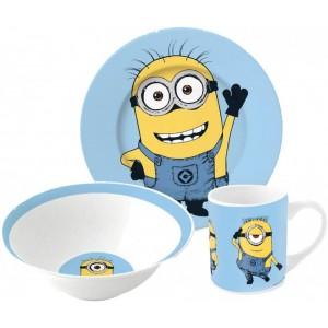 Set Estuche de los Minions Cuenco plato y taza de Cerámica Villano Gru Minion