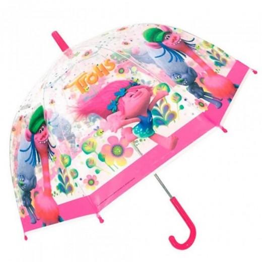 Paraguas grande trolls transparante