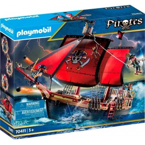 Barco Pirata Calavera Grande de Playmobil Pirates piratas barco de juguete
