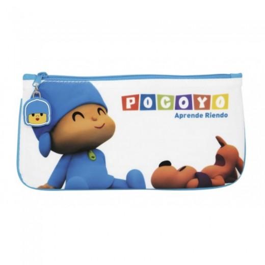 Estuche con cremallera de Pocoyo azul portatodo para colegio guardar material