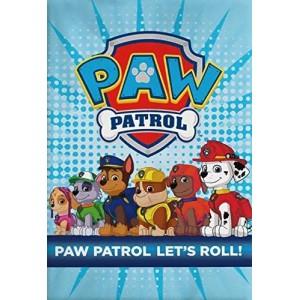 Manta polar de la patrulla canina azul 100 x 140 cm calentita paw patrol suave