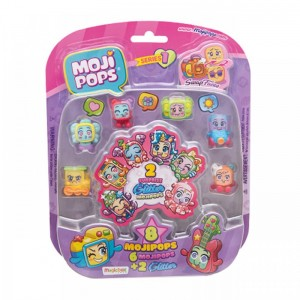 Moji pops Series 1 6 + 2 purpurina