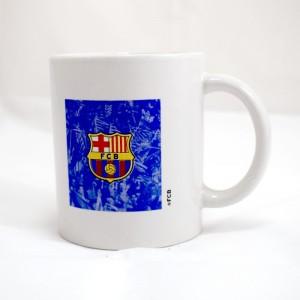 Taza del F.C Barcelona taza para desayuno de cerámica del Barça con Escudo