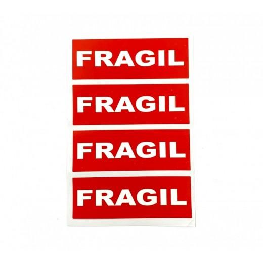 Pegatinas de Envio Frágil Rojo 20 etiquetas adhesivas fragil para paquetes