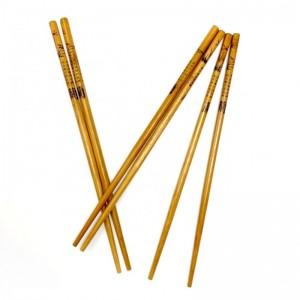 Palillos chinos de madera para sushi comida oriental letras china 5 pares
