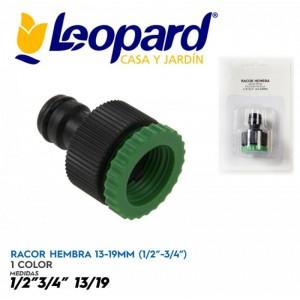 Racor Hembra 13-19 mm adaptador grifo 3/4 o 1/2 a manguera con junta rápida