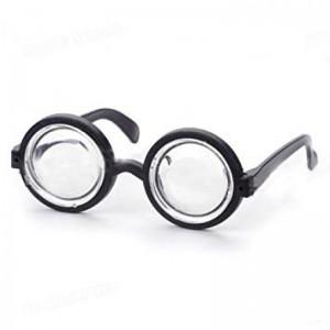 Gafas de culo de vaso anteojos de tonto para disfraz blasa barragan