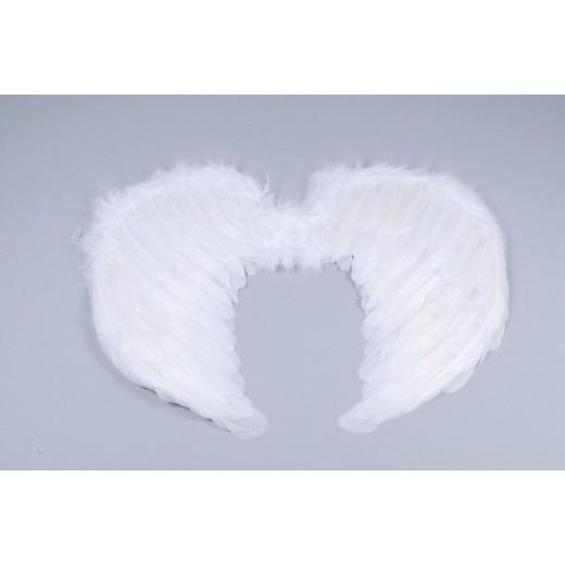 Alas de plumas blancas para disfraz de angel color blanco