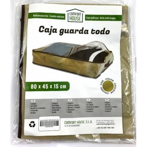 Caja guarda todo de tela con cremallera bolsa para guardar la ropa con asas