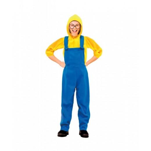 Disfraz tipo Minion traje unisex muñeco trabajador amarillo adulto