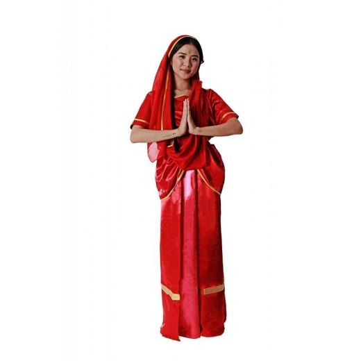 Disfraz de Hindu adulto Mujer traje de sacerdota indonesia para carnaval